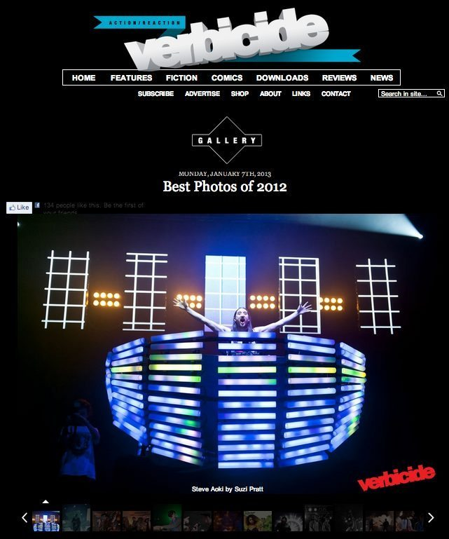 Verbicide Magazine's Best Music photos of 2012 featuring Steve Aoki