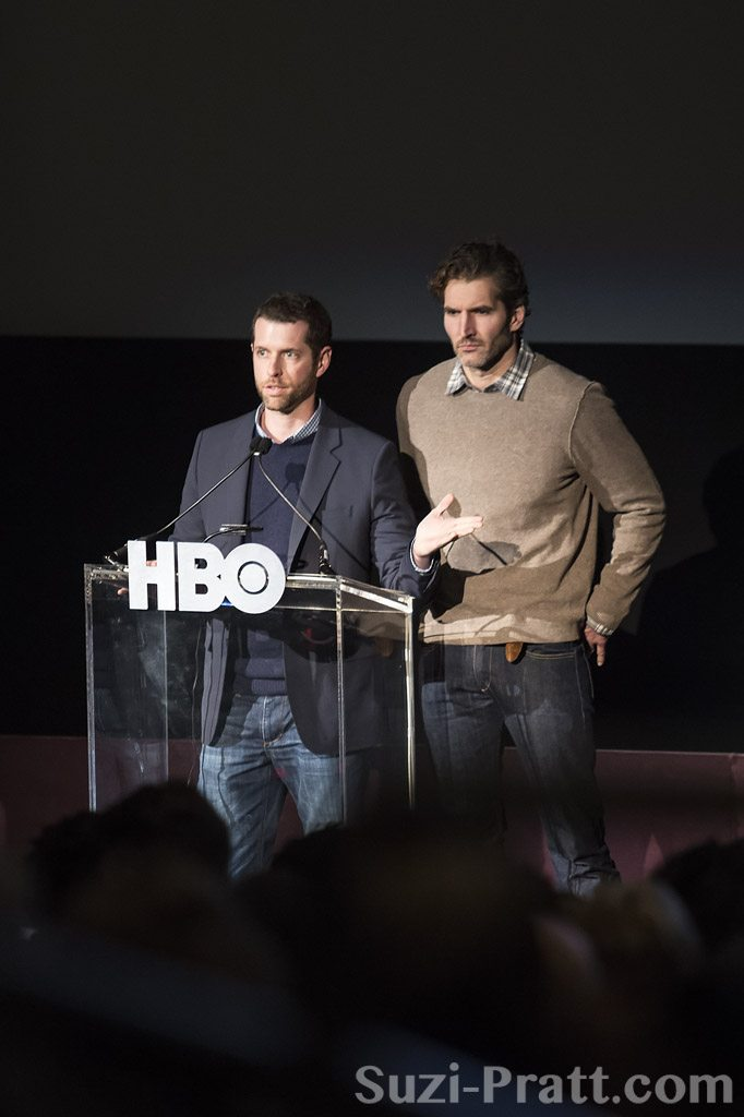 "D.B. Weiss and David Benioff at HBO's ""Game Of Thrones"" Season 3"