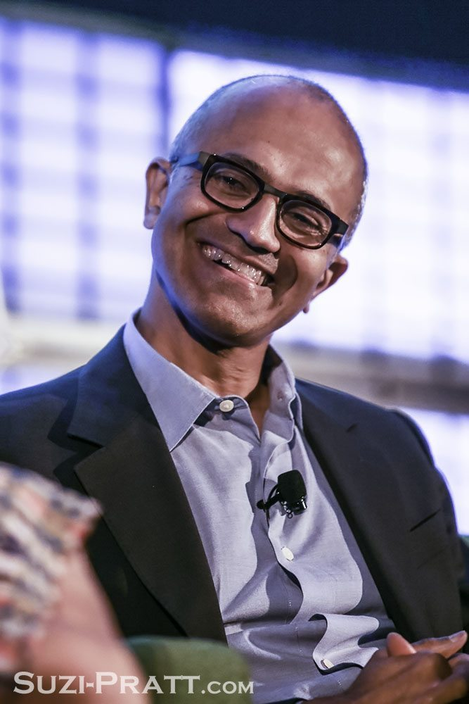Satya Nadella CEO of Microsoft event photography