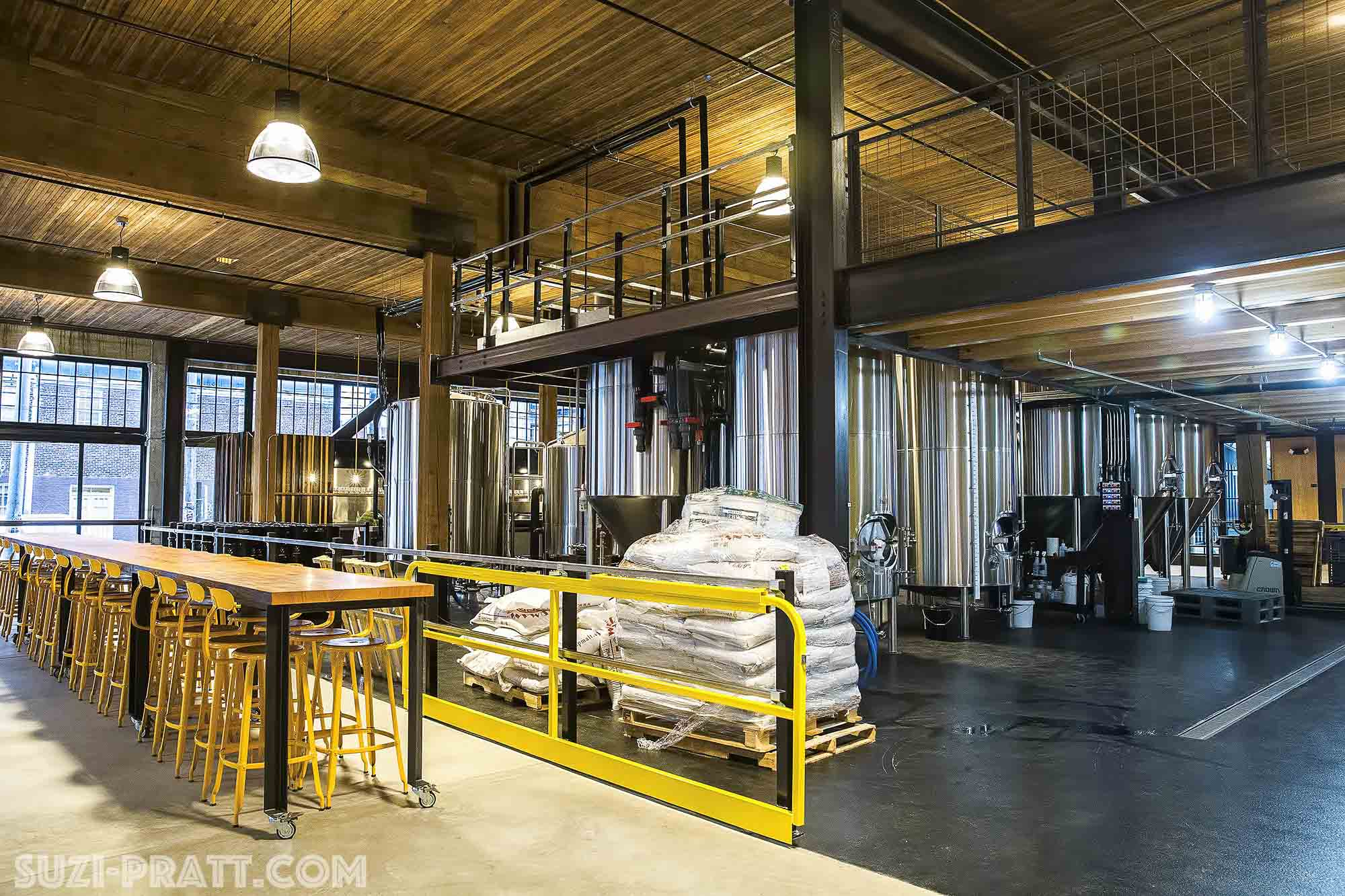 Optimism brewing company interior photographer in seattle