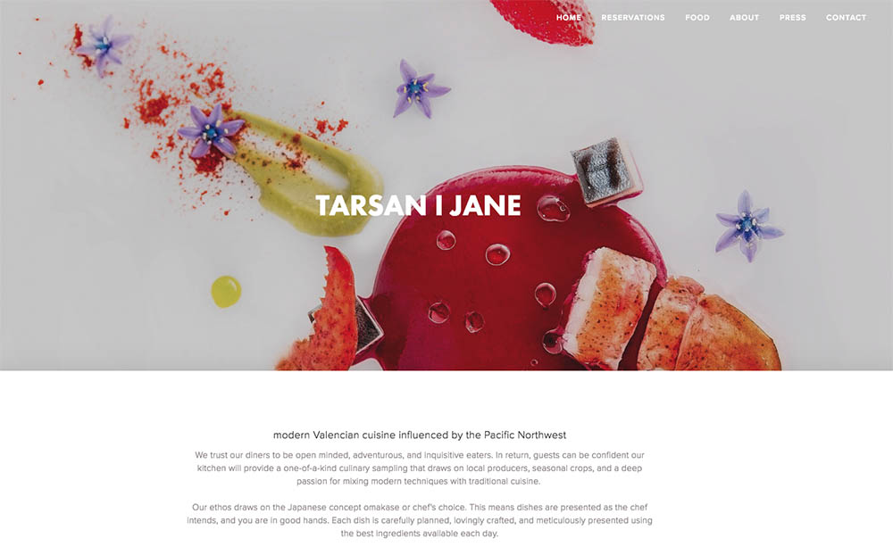 Seattle Bellevue food photographer Tarsan i Jane
